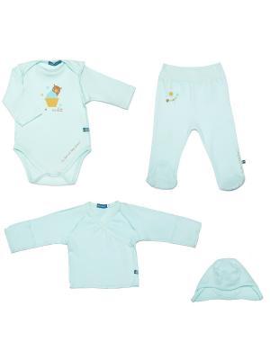 Комплект одежды на выписку SNO KATT. Цвет: салатовый