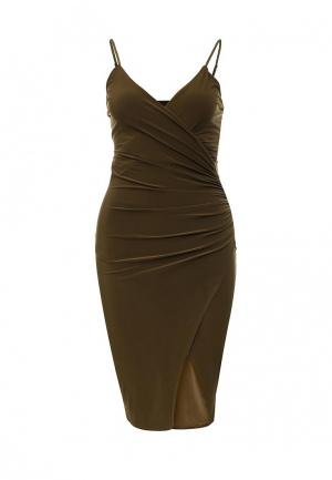 Платье Missi London. Цвет: хаки