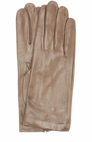 Кожаные перчатки Sermoneta Gloves. Цвет: бежевый