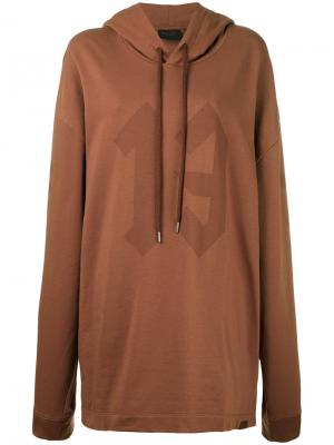 Толстовка с графическим принтом и капюшоном Fenty X Puma. Цвет: коричневый