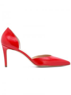 Туфли с заостренным носком Antonio Barbato. Цвет: красный
