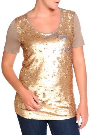 Блуза SARAH KERN. Цвет: золотой