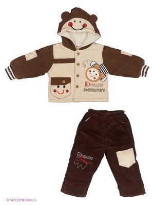 Комплект Happy Bear. Цвет: коричневый, бежевый