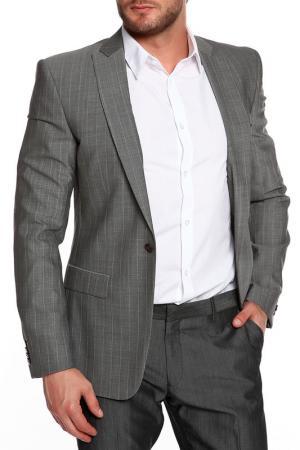 Пиджак J.Lindeberg. Цвет: серый, светло-серая полоска