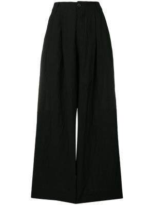 Однотонные брюки-палаццо Uma Wang. Цвет: чёрный
