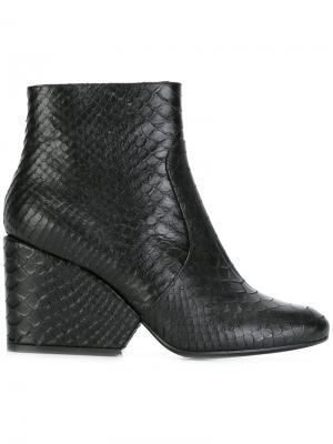 Ботинки с эффектом змеиной кожи Robert Clergerie. Цвет: чёрный