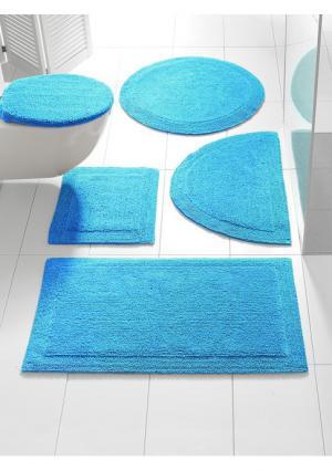 Коврик для ванной Heine Home. Цвет: белый, зелено-синий, серо-коричневый