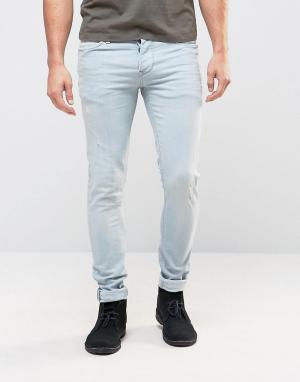 Pepe Jeans Выбеленные голубые джинсы скинни Finsbury. Цвет: синий