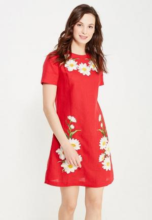 Платье Indiano Natural. Цвет: красный
