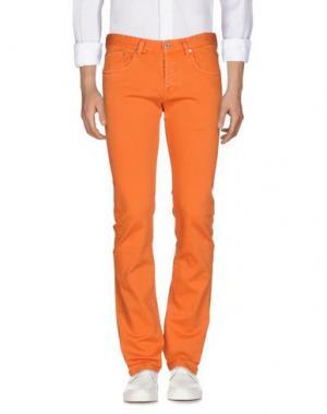 Джинсовые брюки RA-RE. Цвет: оранжевый