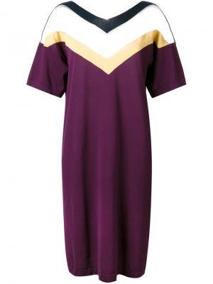 Платье Triple V Roberto Collina. Цвет: розовый и фиолетовый