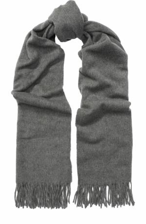 Кашемировый шарф с бахромой Acne Studios. Цвет: серый