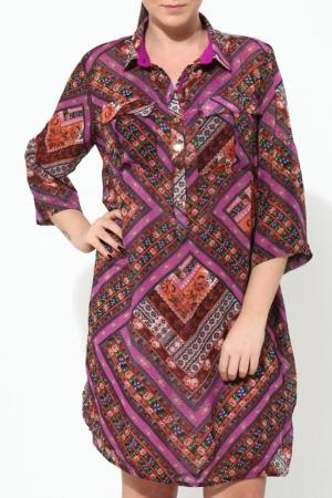 Платье GRAND POMMES. Цвет: мультицвет