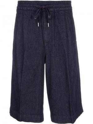 Широкие джинсовые шорты monkey time. Цвет: синий