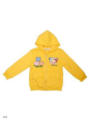 Куртка трикотажная Kidly. Цвет: желтый