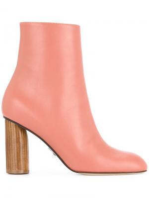 Ботильоны на каблуке Paul Andrew. Цвет: розовый и фиолетовый