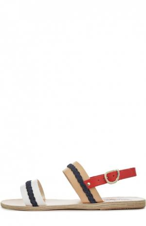 Кожаные сандалии Amphipolis Ancient Greek Sandals. Цвет: разноцветный