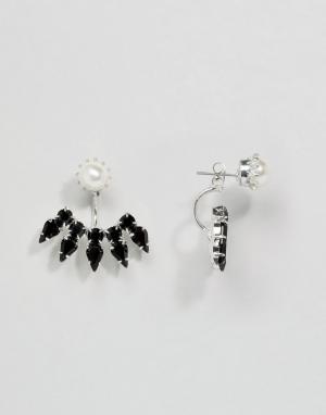 Krystal Серьги-подвески с кристаллами Swarovski Roxanne. Цвет: черный