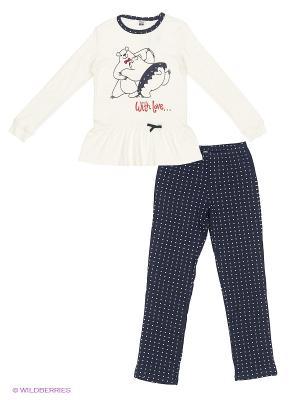 Пижама MANAI. Цвет: темно-синий, белый