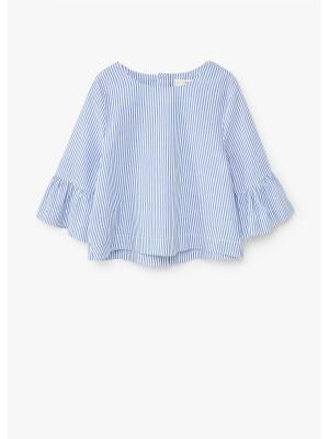 Блузка Mango kids. Цвет: синий