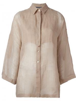 Рубашка с рукавами-колокол Alberta Ferretti. Цвет: телесный