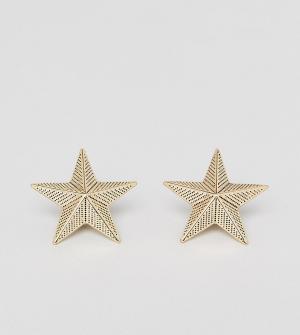 Reclaimed Vintage Золотистые уголки для воротника в форме звезд Inspir. Цвет: золотой