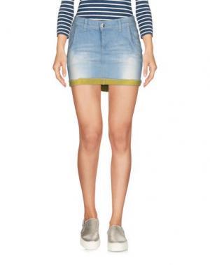 Джинсовая юбка TAKE-TWO. Цвет: синий