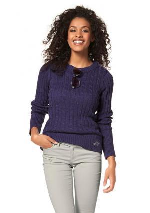 Пуловер Flashlights. Цвет: лиловый