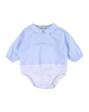 Детский комбинезон LA STUPENDERIA. Цвет: небесно-голубой