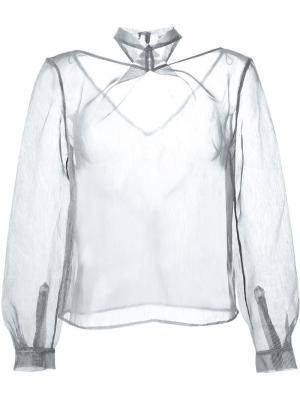 Прозрачная блузка Iris Van Herpen. Цвет: серый
