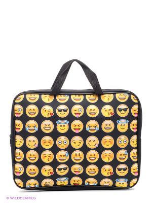 Папка -сумка Смайлики Centrum. Цвет: желтый