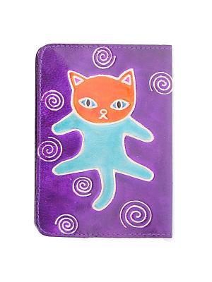 Обложка для паспорта ГАНГ. Цвет: фиолетовый