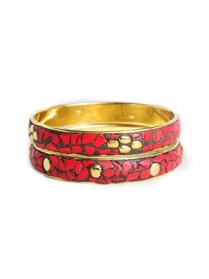 Браслет Indira. Цвет: красный, серый, бронзовый