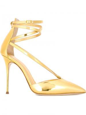 Туфли с ремешками Maryjane Giuseppe Zanotti Design. Цвет: металлический