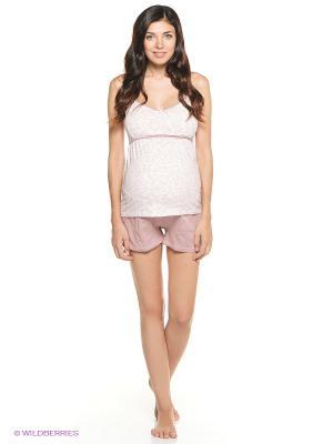 Пижама Мамин Дом. Цвет: бледно-розовый