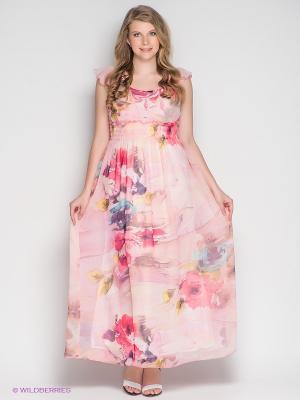 Платье Klimini. Цвет: розовый