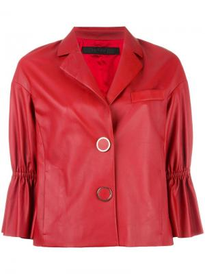 Куртка с рукавами три четверти и оборками Drome. Цвет: красный