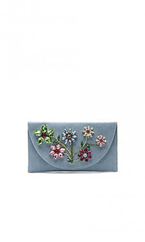 Клатч с цветочным принтом Mystique. Цвет: нежно-голубой