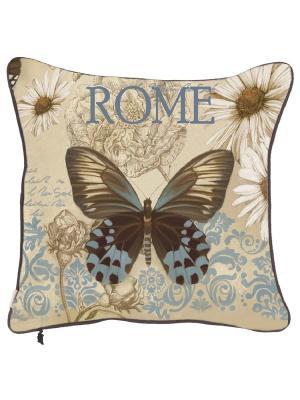 Чехол для декоративной подушки  Полёт бабочки Apolena. Цвет: голубой