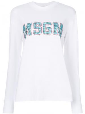Толстовка с нашивкой логотипа MSGM. Цвет: белый