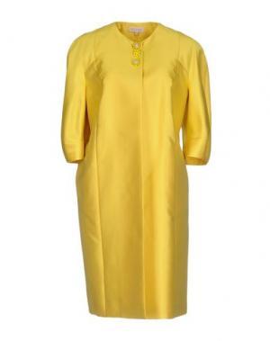 Легкое пальто DICE KAYEK. Цвет: желтый