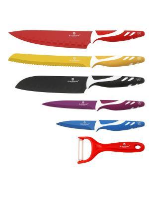 Набор ножей, 6 предметов BLAUMANN. Цвет: черный, фиолетовый, красный
