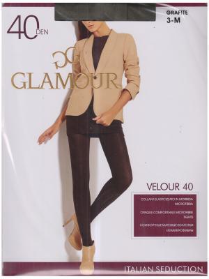 Колготки Velour Glamour. Цвет: серый