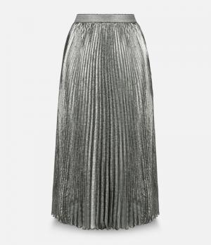 Плиссированная юбка из люрекса Christopher Kane. Цвет: металлический