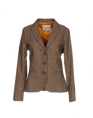 Пиджак OTTOD'AME. Цвет: коричневый