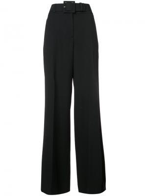 Расклешенные брюки строгого кроя Oscar de la Renta. Цвет: чёрный