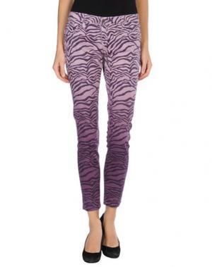 Джинсовые брюки BLEULAB. Цвет: сиреневый