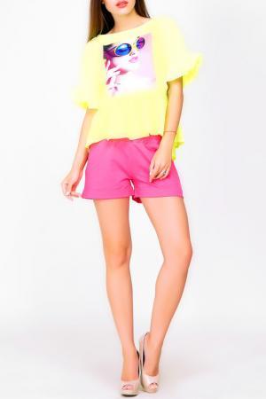 Блуза Majaly. Цвет: желтый