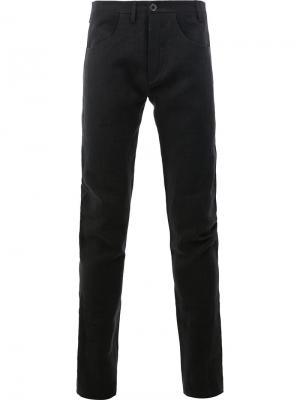 Прямые брюки Label Under Construction. Цвет: чёрный