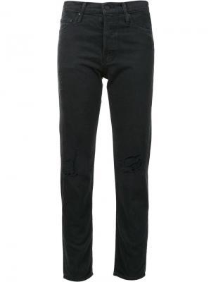 Рваные джинсы кроя скинни Mother. Цвет: синий